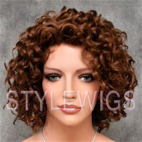 spiral hair style bouncy layered spiral curls curly light aburn wig 3970