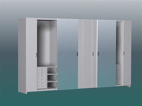 white bedside white wardrobe closet 3d model 3ds max files free
