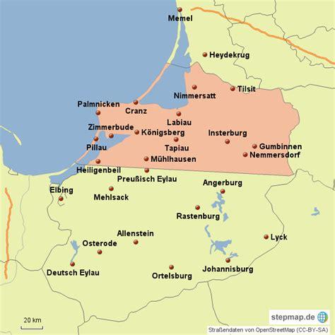 stepmap ostpreussen landkarte fuer deutschland