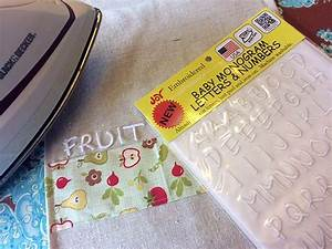 how to sew a tea towel laura k bray designs With iron on letters for towels