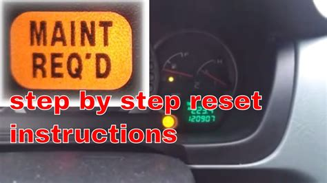 toyota rav4 maintenance required light meaning maint reqd autos post