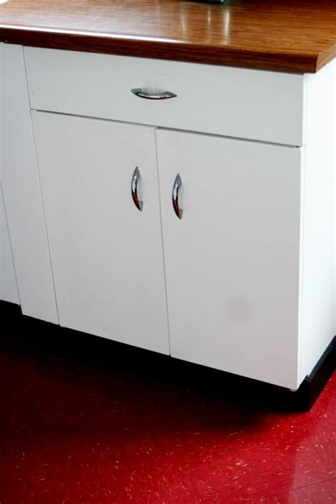 White Metal Kitchen Cabinets by White Metal Cabinets With Wood Countertop Learning To