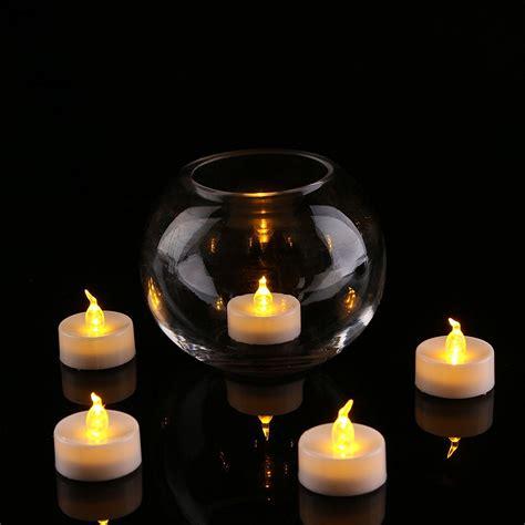 electric tea lights 24pcs led tea light candle with yellow light xiamen