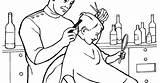 Barber Coloring sketch template