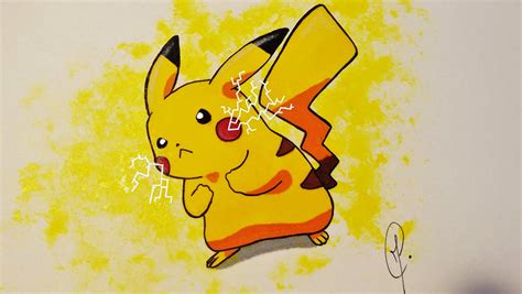 pikachu draw and color