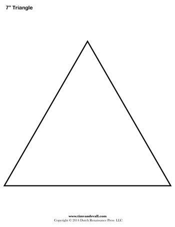 Triangle Template For Kid Craft by Free Printable Triangle Templates For Art Projects