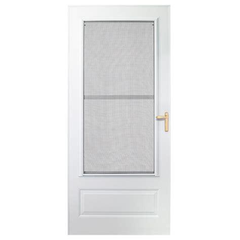 emco screen door emco 36 in x 80 in 300 series white universal