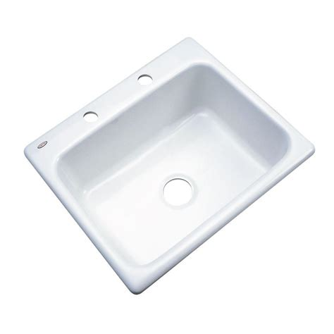 thermocast cambridge kitchen sinks thermocast inverness drop in acrylic 25 in 2 single