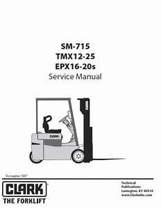 Clark Sm-715 Forklift Service Manual