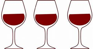 Wine Glass Spilling Silhouette Clipart