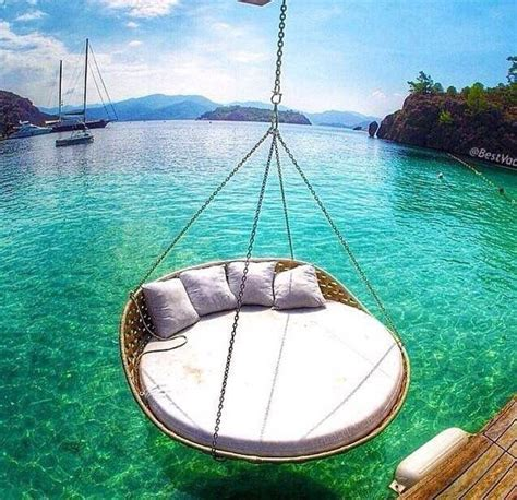 Water Hammock Blue Intl tropical out cove with swing chair water