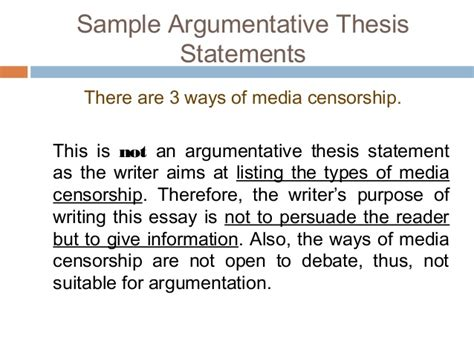 Writing Argumentative Thesis by How To Make A Thesis Statement For An Argumentative Essay