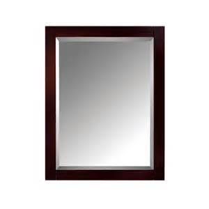 shop avanity 24 in x 30 in rectangle surface mirrored wood