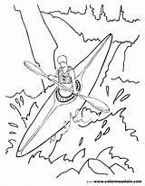 Kayak Coloring Pages Drawing Kayaking Canoe Printable Print Boat Getdrawings Getcolorings sketch template