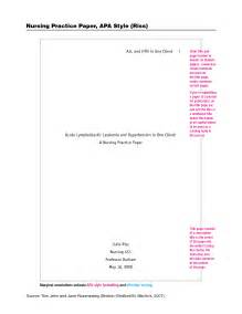 Title Page APA Format Example Paper