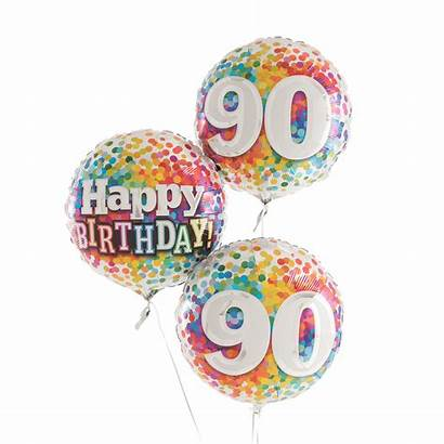 Birthday 90th Rainbow Balloons Helium Happy Balloon