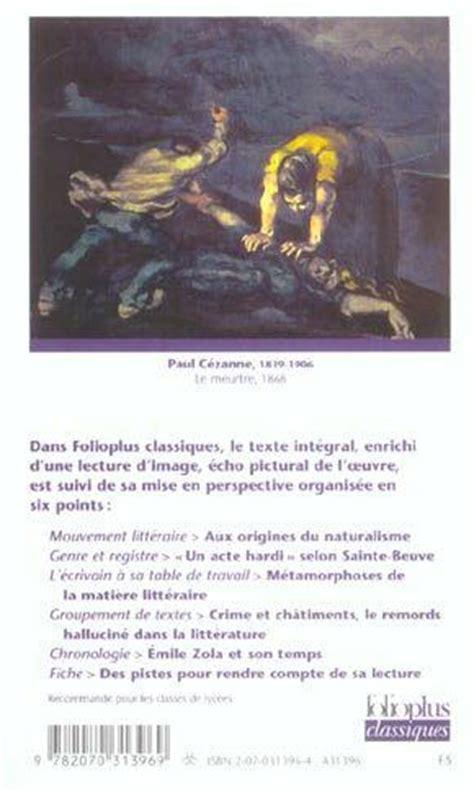 Thérèse Raquin Résumé Par Chapitre by Livre Therese Raquin 201 Mile Zola