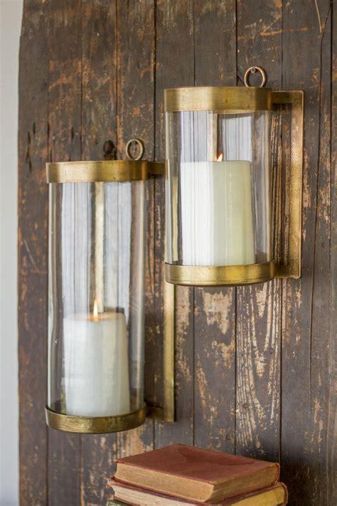 kalalou large  small antique brass glass lanterns