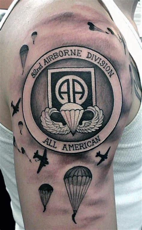 airborne tattoos  men military ink design ideas
