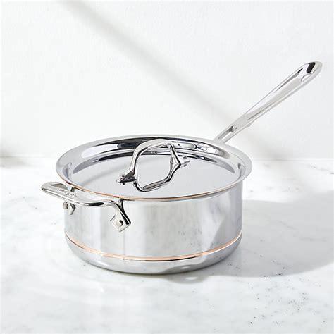 clad copper core  quart saucepan  loop  lid crate  barrel