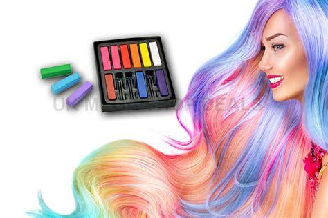 12pc Unicorn Hair Chalk Temporary Hair Dye Colour Soft