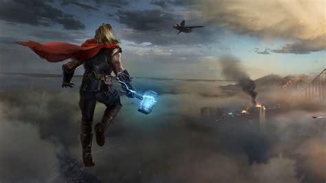 3840x2160 Thor Approaching Marvels Avengers 4K Wallpaper ...