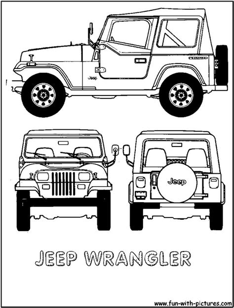 jeep illustration cartoon jeep clip art jeep wrangler colouring pages