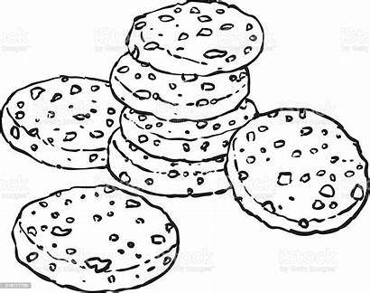 Cookie Chocolate Chip Doodle Clipart Clip Biscuits