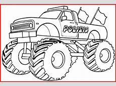 Ausmalbild Monster Truck Polizei Rooms Project Rooms