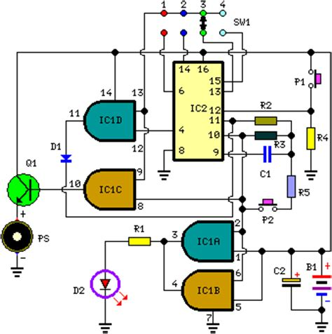How Build Very Useful Timed Beeper Circuit Schematic