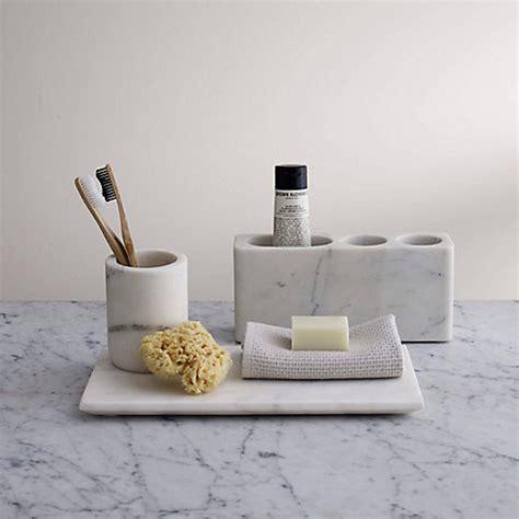 buy john lewis white marble bathroom accessories tray