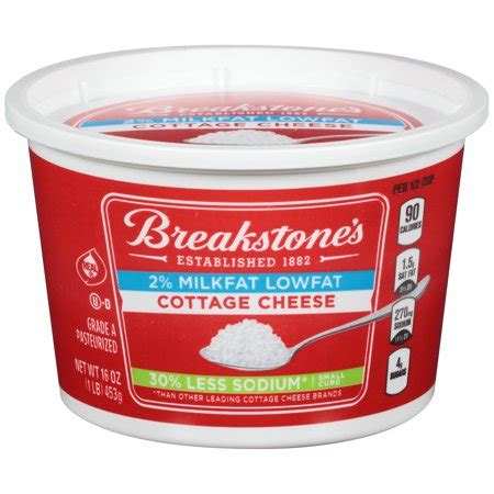 Cottage Cheese Curd by Breakstone S Small Curd Low Sodium Cottage Cheese 16 Oz