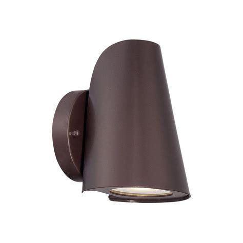acclaim lighting 1 light architectural bronze led wall sconce 1405abz the home depot