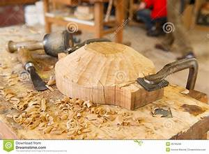 Artisan wood work stock image Image of carving, clamps