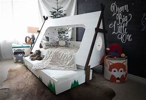 DIY Toddler Bed in Shape of a Tent – Kids TeePee Trundle