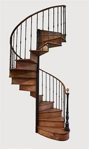 Escalier Colimaon Fer Et Bois De Chne Escaliers Rampes
