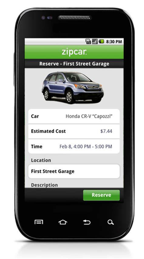 Car Designing Apps For Android by Zipcar 174 Android App On Behance