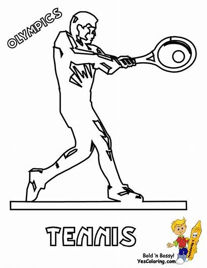 Coloring Olympic Pages Games Sports Tennis Summer