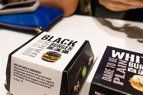 restaurant cuisine 9 mcdonald 39 s hong kong black squid ink white burger review