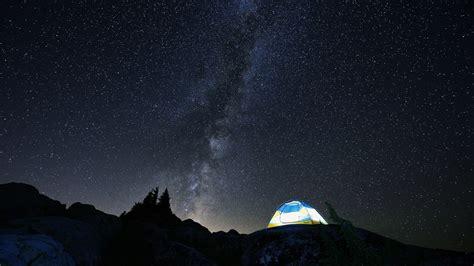 Landscape Night Stars Milky Way Wallpapers Desktop
