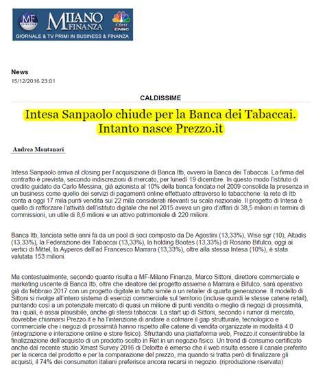 Intesa San Paolo La Spezia by Intesa Sanpaolo Chiude Per Itb