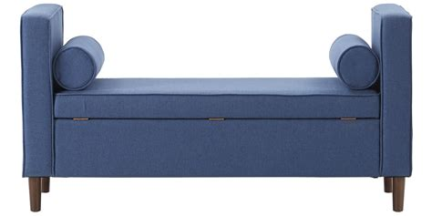 Settee With Storage by Classic Settee With Storage In Blue Colour Dreamzz