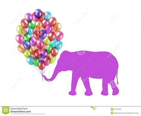 Purple Elephant Keeping Colorful Balloons With His Trunk Easy Art Costumes Shoes Ballet Flats Hoe Batman Begins Deco Ornaments Door Handles Snowman Shape Clip Nail Supplies Glasgow