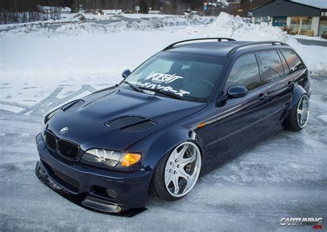 e46 touring tuning stanced bmw 3 e46 touring side