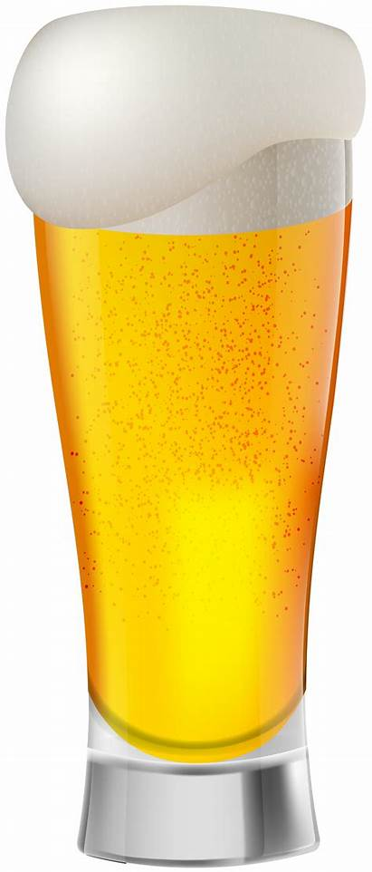 Beer Clip Clipart Glass Transparent Lager Pint