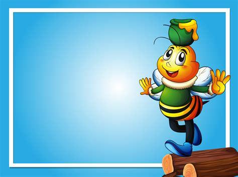 border template  bee  honey pot