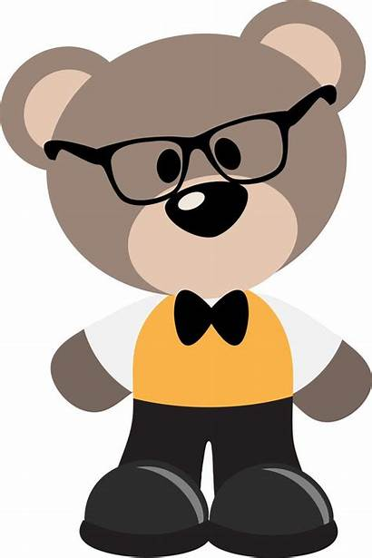 Bear Bears Clip Clipart Teddy Cartoon Geeky
