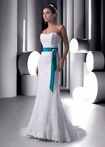 colored strapless satin wedding dresscherry marry cherry With color wedding dresses