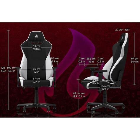 fauteuil de bureau dossier inclinable siège gaming nitro concepts s300 noir tissu fauteuilgamer