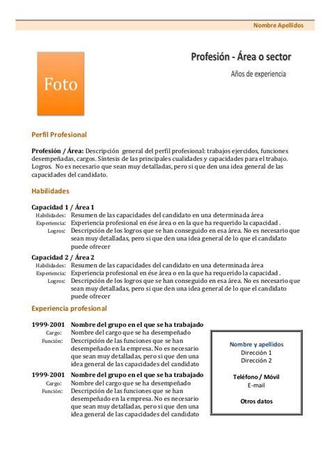 curriculum vitae modelo1c naranja